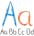 Chalk letters vector