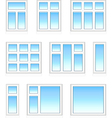 Plastic windows in color vector