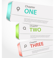Website paper page design template with icons and vector