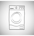 Washing machine hand drawn sketch vector
