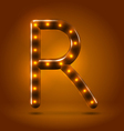 Glossy retro caramel sweet backlit up abc vector