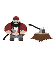 Fat lumberjack no outlines vector