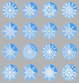 Create snowflake icons on button vector