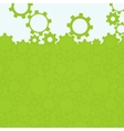 Abstract simple green gear background vector