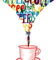 Trendy coffee social icon concept vector