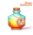 Glass flask with poison vector