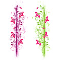 Green and violet floral ornament vector