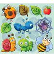 Cute bugs vector