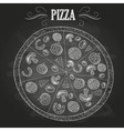 Chalk drawings pizza vector