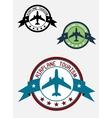 Airplane tour logo vector
