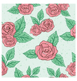 Vintage rose pattern vector