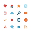 Pixel web icons set vector