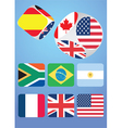 Dice with national flags vector