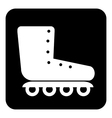 Roller skates icon button vector