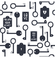 Key to my heart seamless pattern vector