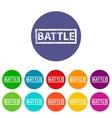 Battle flat icon vector