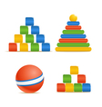 Wood color toys vector