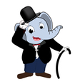 Elephent head man wear tuxedo vector