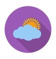 Overcast single icon vector