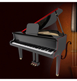 Abstract music grunge dark background with piano vector