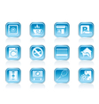 Hotel and motel amenity icons vector