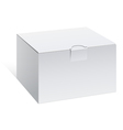 Realistic white package box for electronic device vector