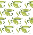 Fresh green herbal tea seamless pattern vector