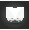Abstract book concept isolated on black background vector