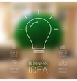 Idea infographic with light bulb template for vector
