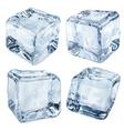 Opaque light blue ice cubes vector