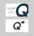 Business card template - letter q vector
