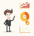 Businessman presentation vector