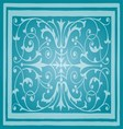 Light blue floral luxury ornamental pattern vector