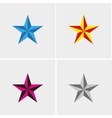 Four stars set vector