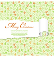 Torn christmas decorative paper vector