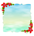 An empty template with floral borders vector