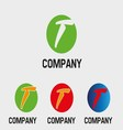 T logo abstract icons for letter t vector