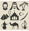 Arabic icons set vector
