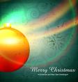 Shiny christmas ball vector