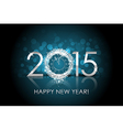 2015 happy new year background with silver clock vector
