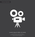 Video camera premium icon vector