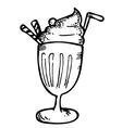 Ice cream with float vector