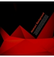 Abstract background polygon red and black vector