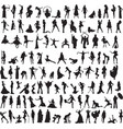 A variety of interesting silhouettes of women vector