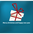Blue christmas card with gift  eps8 vector