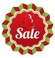 Christmas sale special offer label paper tree vector