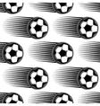 Speeding soccer ball seamless pattern vector