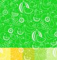 Fruit white silhouette seamless pattern vector