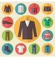 Man clothing icons set vector
