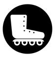 Roller skates icon button vector